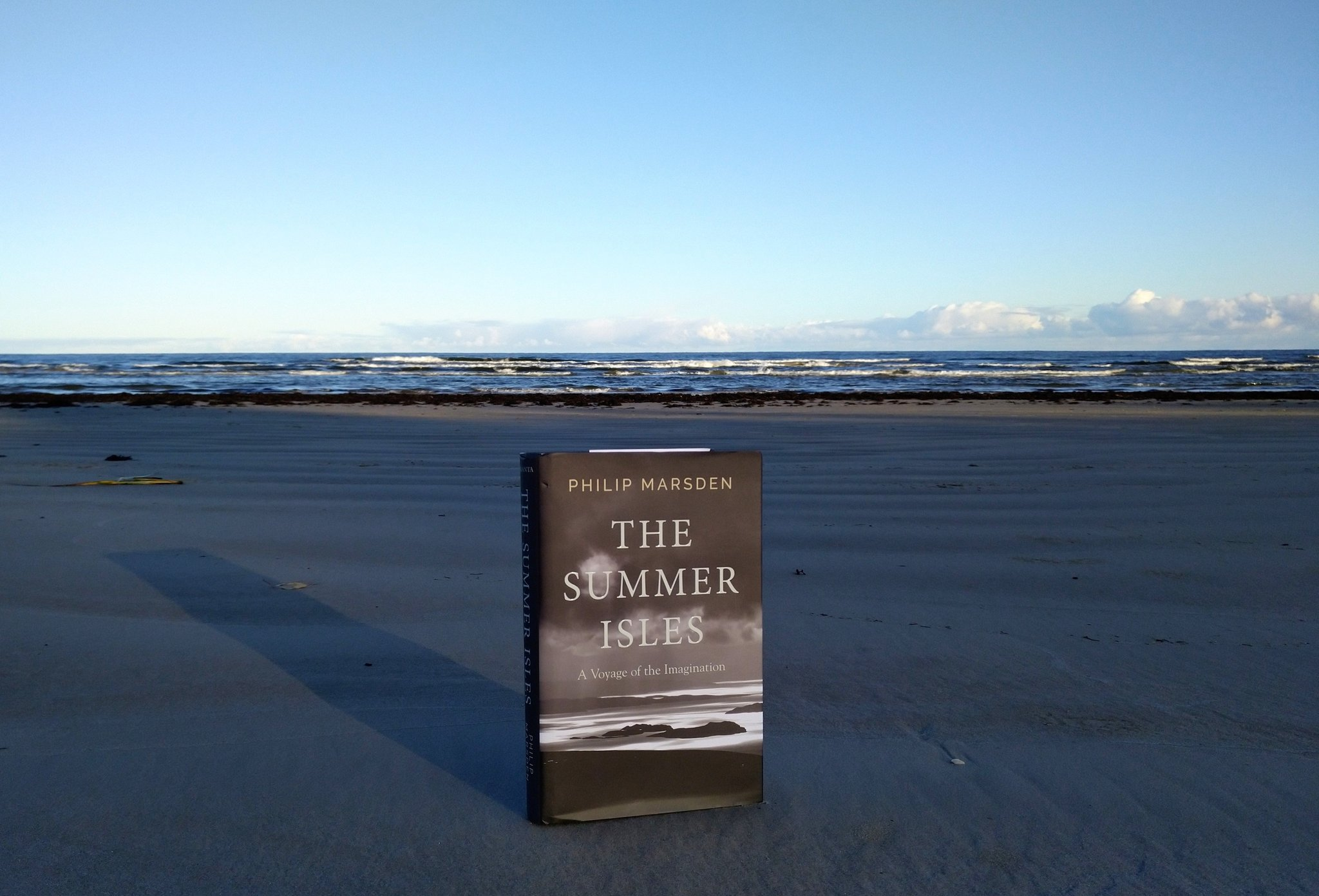 The Summer Isles: A Voyage of the Imagination by Philip Marsden is published in 2019 by Granta. Photo by Beach Books.
