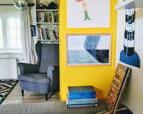 """Limited edition photographic print """"Relativity"""" by Elina Ruka in the Sea Library. Photo: Beach Books."""