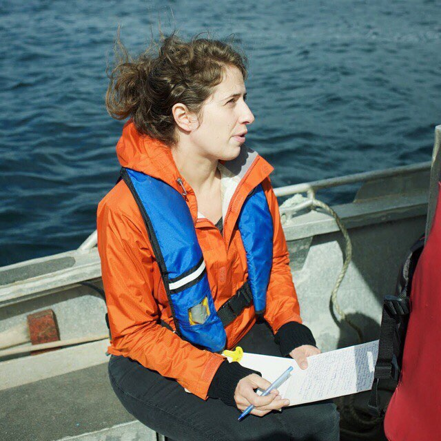 "Laura while reporting for her book ""The Imperiled Ocean""."